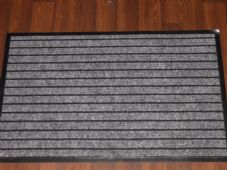 NON SLIP DOORMAT 50CMX80CM RUBBER BACKING GOOD QUALITY ALL COLOURS GREYS BARGAIN